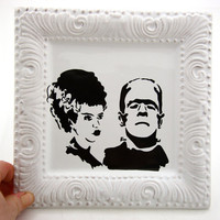 Mr and Mrs Frankenstein Halloween Wedding Gift Can Be by LennyMud