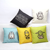 New Fashion Star Wars Back Pillow Cover Pillow Case Waist Pillowcase Cotton Home Use Decorative Pillowcase = 1930136644