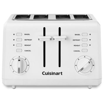 Cuisinart CPT-142 White 4-slice Compact Toaster | Overstock.com Shopping - The Best Deals on Toasters & Ovens