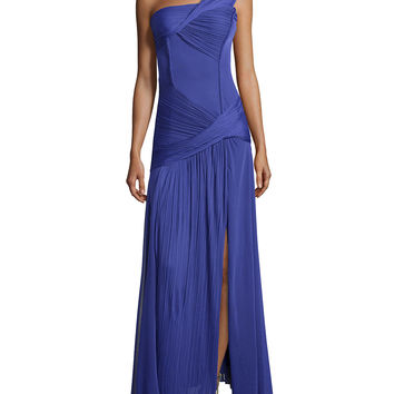 Women's Ruched One-Shoulder Gown, Violet - Halston Heritage - Violet (0)
