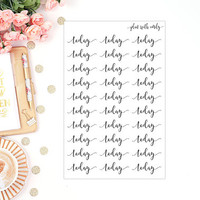 Today | Script Font Stickers