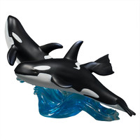 Travelling Killer Whales Large Figurine