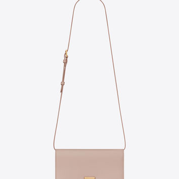 Medium BELLECHASSE SAINT LAURENT satchel in pink leather and suede