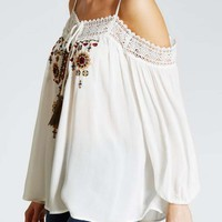 Cold Shoulder Boho Blouse - Matalan