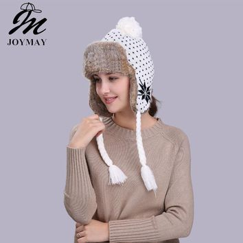 Joymay Winter Hat Bomber Hats For Men Women Thicken Balaclava Cotton Fur Winter Earflap Keep Warm Caps Russian Skull Mask W234