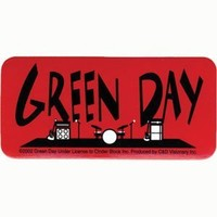 Green Day - Instruments On Stage - Small Sticker / Decal
