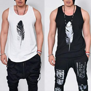 Gym Men Muscle Sleeveless Tee Shirt Tank Top