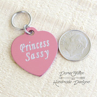 Personalized Cat Tags for Collars, Heart Shaped Cat Tag, Personalized Cat Tag for Cat, Pet ID Tag, Cat ID Tag, Cat Tag, Pet Tag