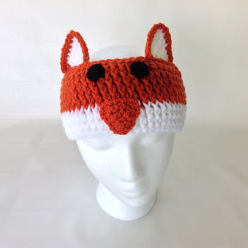 Animal Headband with ears, Crochet animal ear warmer, Crochet headband, crochet ear warmer, Baby/Adult, Women/Unisex, Soft, Cute and Comfy