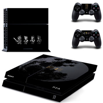 Deluxe Edition Final Fantasy XV Vinyl Decal Skin For PS4 Console+2Pcs Stickers For ps4 Controllers