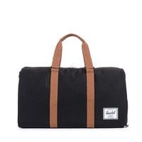 HERSCHEL SUPPLY CO NOVEL DUFFLE IN BLACK/TAN