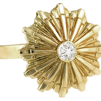 14K Yellow Gold Starburst Ring, Stone & Novelty Rings