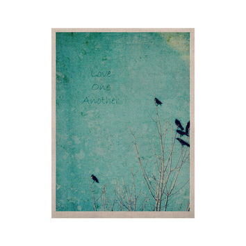 "Robin Dickinson ""Love One Another"" Blue Birds KESS Naturals Canvas (Frame not Included)"