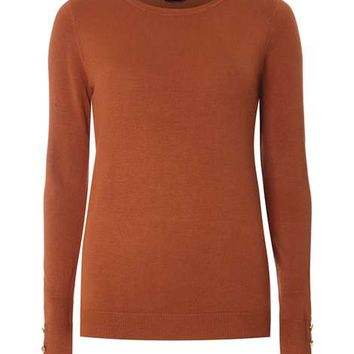 Ginger Button Cuff Jumper - View All Clothing & Shoes - Clothing