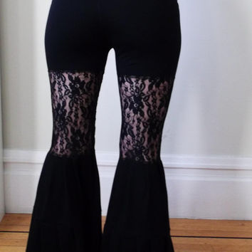 Pick a Color Stretch Lace Yoga Pants Bell Bottom Flares
