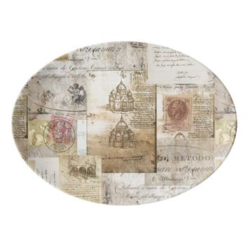 Vintage Italian Rome Cathedral Platter