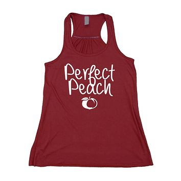 Perfect Peach Tank Top Southern Girl Peachy Girly Flowy Racerback Tank