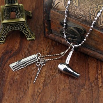 Cosmetologist Silver Pendant Necklace