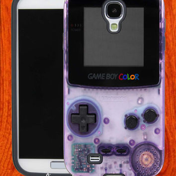 Purple Gameboy Color ,Accessories,Case,Cell Phone,iPhone 4/4S,iPhone 5/5S/5C,Samsung Galaxy S3,Samsung Galaxy S4,Rubber,27-11-2-Hk