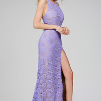 Jovani 27121 Lace Halter Racer Back Prom Dress Evening Gown In Stock