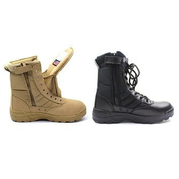 New America Sport Army Men's Tactical Boots Desert Outdoor Hiking leather Boots Military Enthusiasts Marine Male Combat Shoes 45