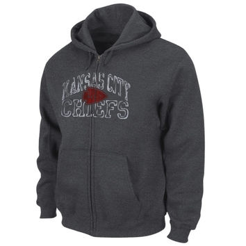 Kansas City Chiefs Touchback VI Full Zip Hoodie – Charcoal