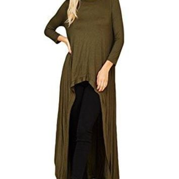Annabelle 34 Sleeve High Low Casual Long Maxi Tunic Tops