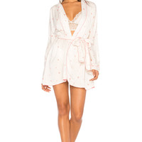 Wildfox Couture Rosebud Wallpaper Robe in Vintage Lace