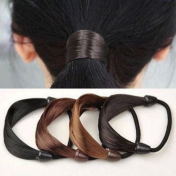 Circle Manual Twist Rubber Headband Rope Ring Elastic Hair Bands Hair Accessories For Women Scrunchy Girls Hair Braider Tools