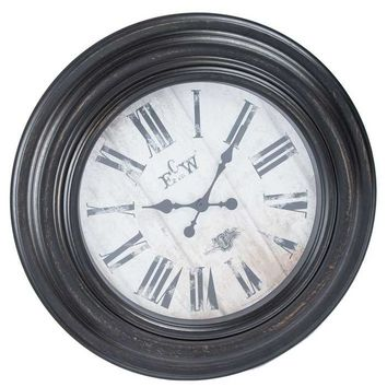 Dark Antique Brown Round Wall Clock | Hobby Lobby | 802124