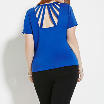 Plus Size Caged-Back Top | Forever 21 PLUS - 2000169505