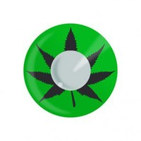 EDIT Color Contact Lenses - Green Cannabis - Colored Contact Lenses - 420 Lifestyle Apparel  - Grasscity.com