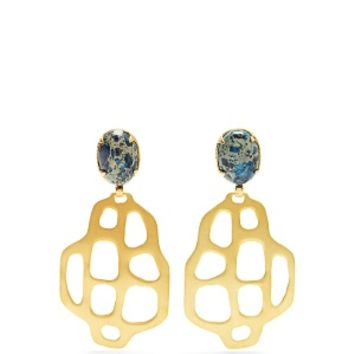 Avalon quartz and gold-plated earrings | Marte Frisnes | MATCHESFASHION.COM US