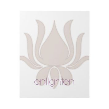 Enlighten Lotus Gallery Wrap Wall Art