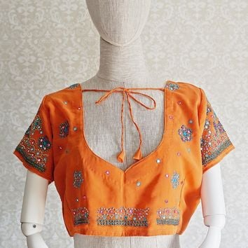 Vintage 1970s Festival + Gypsy Crop Top