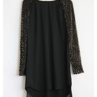 Beaded Long Sleeve Dress