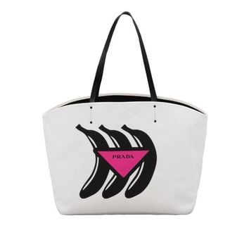 Large canvas tote with Logo print
