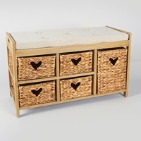 5 Drawers Unit (80cm x 35cm x 50cm) - Matalan