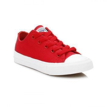 converse all star chuck taylor ii junior salsa red white ox trainers