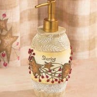 Country Hearts & Stars Bathroom Soap Dispenser See Store For Coordinating Pieces