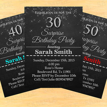 30th Birthday Invitation Milestone Women Elegant Adult Party