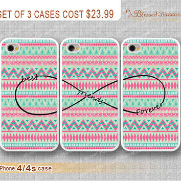 Best friends Forever, infinity wish and Aztec iPhone 4 Case, iPhone 4s Case, iPhone 4 Hard Plastic Case,Personalized iPhone Case,water proof