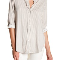 Philosophy Apparel | Striped Button Down Blouse | Nordstrom Rack