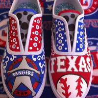 Handpainted Texas Rangers Mossimo/TOMs Shoes