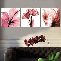 Oil Painting Canvas Print Flower Landscape Picture Home Decoration Gift for Living Room Wall Frameless Paint Art 3pcs