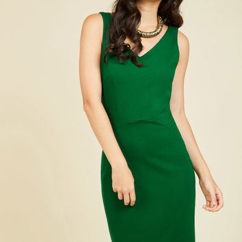 Inspired Entrepreneur Dress in Clover | Mod Retro Vintage Dresses | ModCloth.com