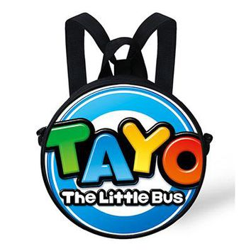 Boys bookbag trendy New 9-Inch Cartoon TAYO The Little bus  For Kids Baby Round School Bag For Kindergarten Children Backpack For Girls Boys AT_51_3