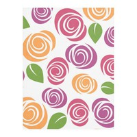 Vintage Flower Pattern Fleece Blanket
