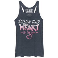 CHIN-UP SOFT BLUE FOLLOW YOUR HEART GYM TANK TOP