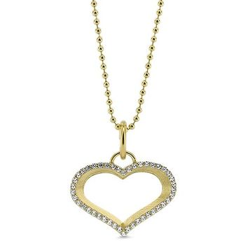 Diamond Outline Heart Necklace
